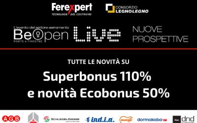 Be open Live | Superbonus 110% ed Ecobonus 50%